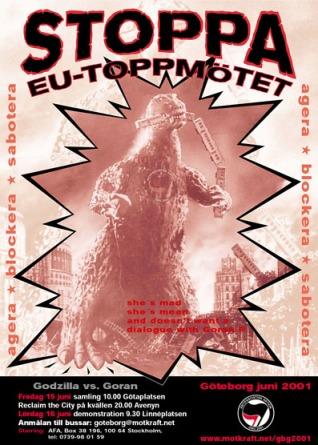 """""""Antifascistisk"""" aktion 2001"""