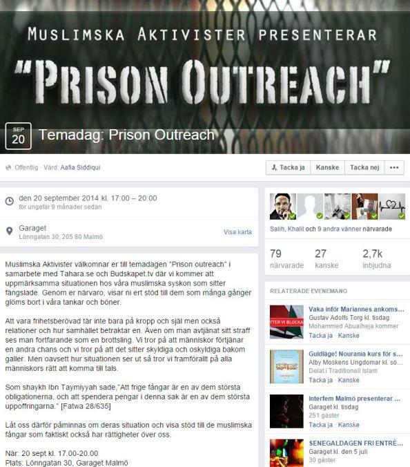 aafia siddique PRISON OUTREACH - 2 eventet
