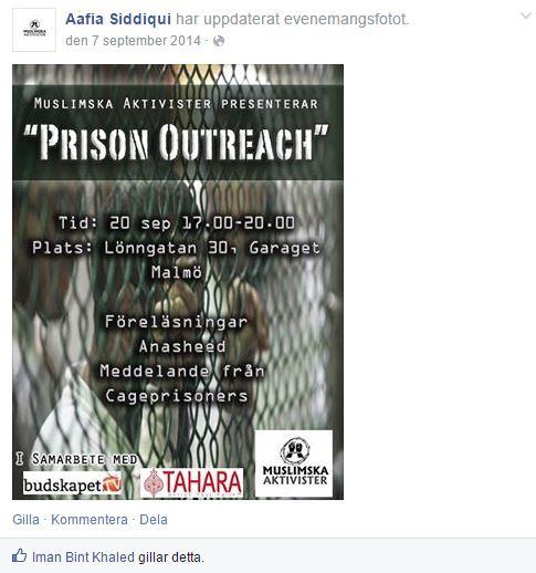 aafia siddique PRISON OUTREACH Affisch