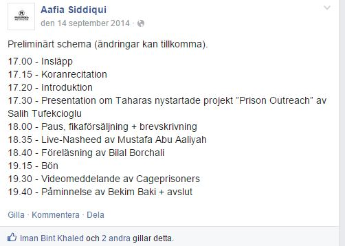 aafia siddique PRISON OUTREACH - schema