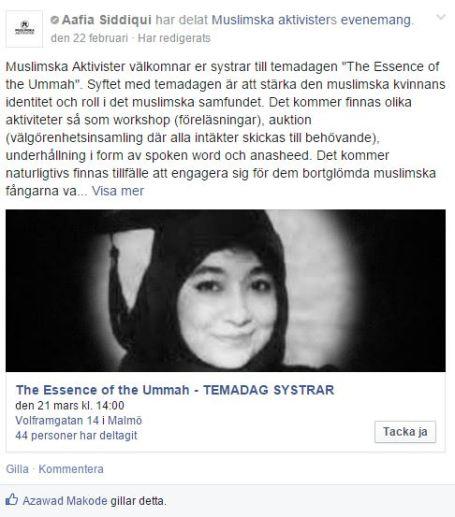 DELA muslimska aktivister inlägg2