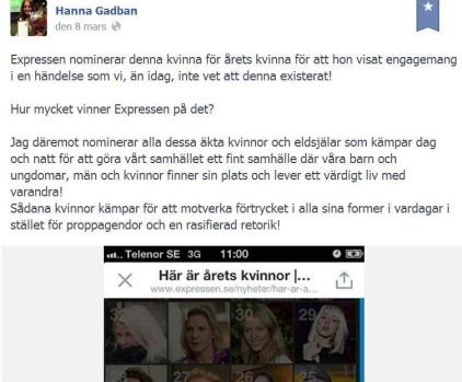 ifrågasätter hijabuppropet skett