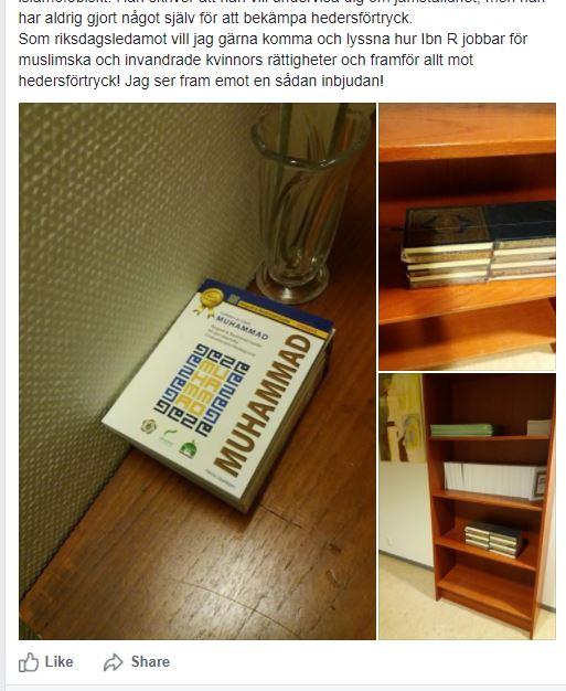 Kakabeveh ser en koran och blirrädd