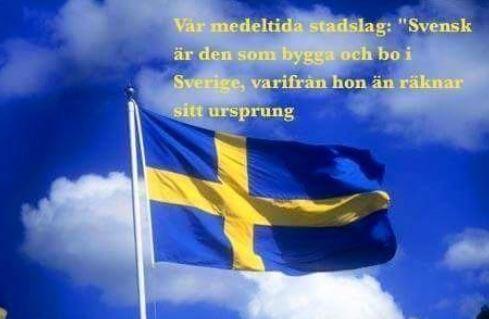 """Myten: """"Svensk är den som bygga och bo i sverige, varifrån hon än räknar sittursprung"""""""