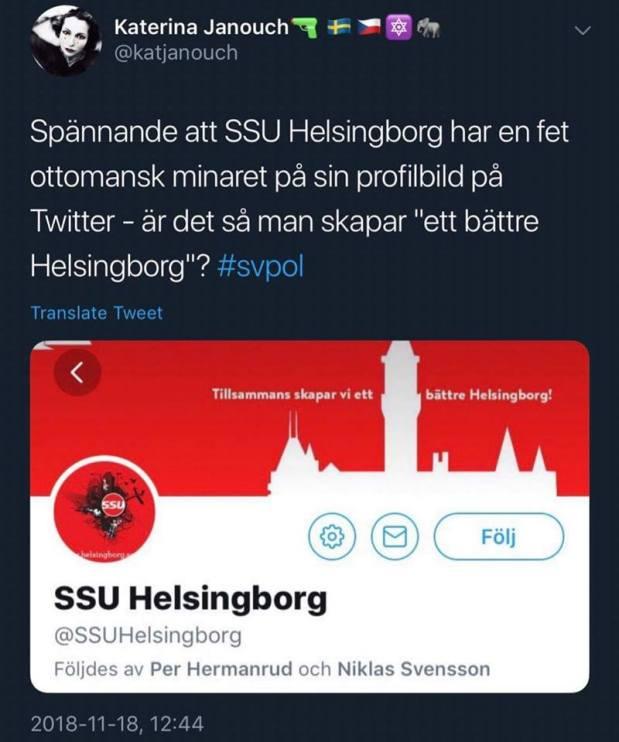 Katerina Janouch tror att Helsingborgs rådhus är enmoské